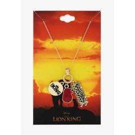 Bioworld Necklace - Disney The Lion King - Hakuna Matata, Lion King and Simba's Head Charms