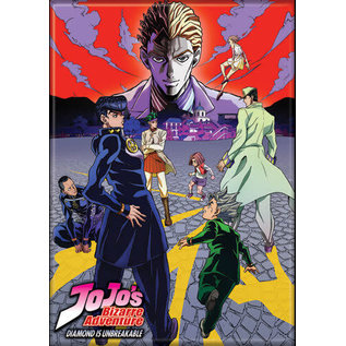 Ata-Boy Aimant - JoJo's Bizarre Adventure Diamond is Unbreakable - Jotaro, Josuke, Rohan, Okuyasu, Koichi Face à Kira