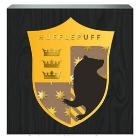 Spoontiques Frame - Harry Potter - Hufflepuff Crest Box Sign with Golden Accents