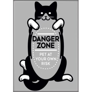 Ata-Boy Aimant - SnorgTees - Danger Zone Pet at Your Own Risk