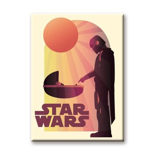 "Ata-Boy Aimant - Star Wars The Mandalorian - Mando et The Child ""Bébé Yoda"" Grogu Soleil"