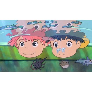 Chez Rhox Aimant - Studio Ghibli Ponyo sur la Falaise - Ponyo et Sosuke Visage Dans L'eau