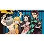 Chez Rhox Aimant - Kimetsu no Yaiba: Demon Slayer - Inosuke, Zenitsu, Nezuko et Tanjiro sur Fond Bleu