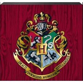 Spoontiques Enseigne - Harry Potter - Blason de Poudlard Boite en Bois Avec Accent Doré