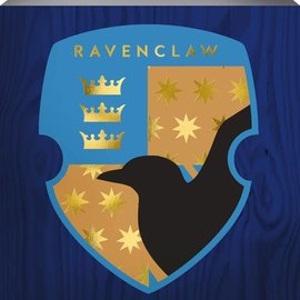Spoontiques Frame - Harry Potter - Ravenclaw Crest Box Sign with Golden Accents