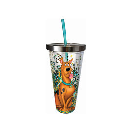 Spoontiques Travel Glass - Scooby-Doo - Glitters with Straw 20oz