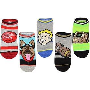 Chaussettes - Fallout - Symboles Variés Paquet de 5 Paires Courtes Chevilles *Liquidation*
