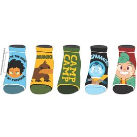 Socks - Camp Camp - Characters and Logo Pack of 5 Pairs Ankle