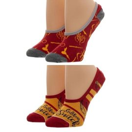 Bioworld Chaussettes - Harry Potter - Vif D'or Paquet de 2 Paires de Liners Invisibles *Liquidation*