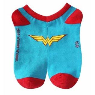 Bioworld Chaussettes - DC Comics Wonder Woman - Bleues avec Logo 1 Paire Courtes Chevilles