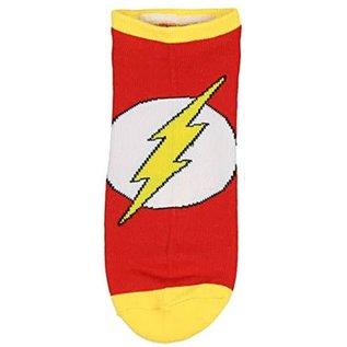 Bioworld Chaussettes - DC Comics The Flash - Rouges avec Logo 1 Paire Courtes Chevilles