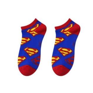 Bioworld Chaussettes - DC Comics Superman - Bleues avec Logos 1 Paire Courtes Chevilles