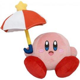 Sekiguchi Peluche - Nintendo Kirby - Kirby Assis avec Parapluie All Star Collection 7''