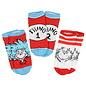 Bioworld Chaussettes - Dr.Seuss - Thing 1 Thing 2 Paquet de 3 Paires Courtes Chevilles