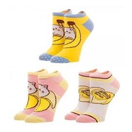 Bioworld Socks - Bananya - Pack of 3 Pairs Ankle