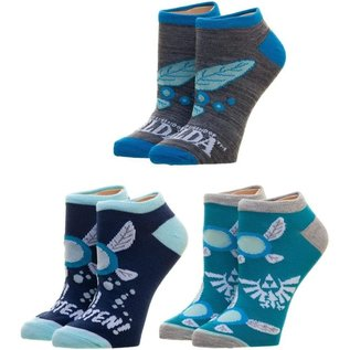 Bioworld Chaussettes - The Legend of Zelda - Navi la Fée Paquet de 3 Paires Courtes Chevilles