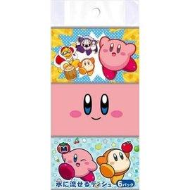 Takara Tomy Mouchoirs en Papier - Nintendo Kirby - Personnages Variés 6 Paquets de 16