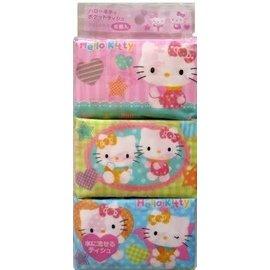 Takara Tomy Mouchoirs en Papier - Sanrio Hello Kitty - Personnages Variés 6 Paquets de 16