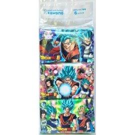 Takara Tomy Mouchoirs en Papier - Dragon Ball Super - Personnages Variés 6 Paquets de 16