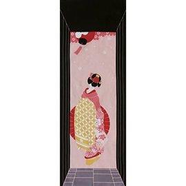 Maede Co. Essuie-mains - Tenugui - Yamato-e Geisha dans l'Allée