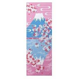 Maede Co. Hand Towel - Tenugui - Yamato-e Fuji-san Upside Down with Sakura