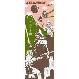 Maede Co. Essuie-mains - Tenugui Star Wars - Darth Vader, Storm Troopers et Étoile de la Mort devant Fuji-san