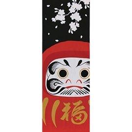 Maede Co. Hand Towel - Tenugui - Yamato-e Daruma and Sakura