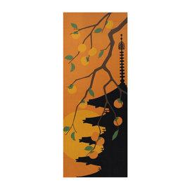 Maede Co. Essuie-mains - Tenugui - Pagode et Fruits de Kaki d'Automne