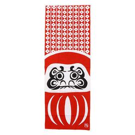 Kaya Hand Towel - Tenugui - Daruma with Lozanges