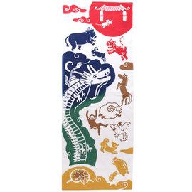 Kaya Hand Towel - Tenugui - Twelve Animals of the Zodiac
