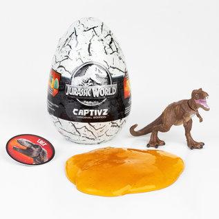 Toy Monsters International Boule mystère - Jurassic World - Oeuf de Dinosaure Mini Figurine dans la Slime Captivz Original Edition