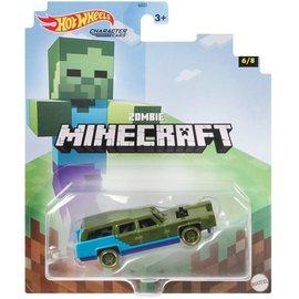 Mattel Jouet - Hot Wheels Minecraft - Character Cars Zombie