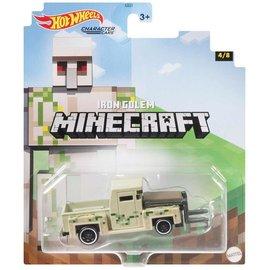 Mattel Jouet - Hot Wheels Minecraft - Character Cars Iron Golem