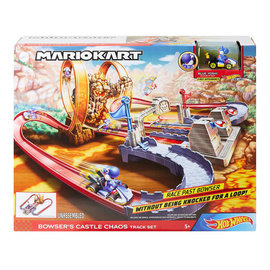 Mattel Toy - Hot Wheels Nintendo Mario Kart - Bowser's Castle Chaos Race Track Set