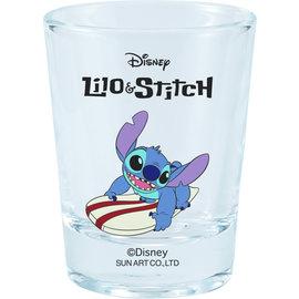 Sun Art  Seto Verre - Disney Lilo & Stitch - Sitch sur une Planche de Surf Mogumogu Collection Mini Shooter 2oz