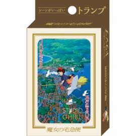 Ensky Studio Jeu de cartes - Studio Ghibli Kiki la Petite Sorcière - Kiki et Jiji en Vol