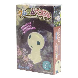 Eco Casse-tête - Studio Ghibli Princesse Mononoké - Esprit de la Forêt Kodama Kumu Kumu Series 3D 9 pièces