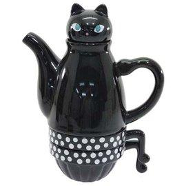 Shinzi Katoh Teapot - Shinzi Katoh - Kuroneko Black Cat Tea Set for Two