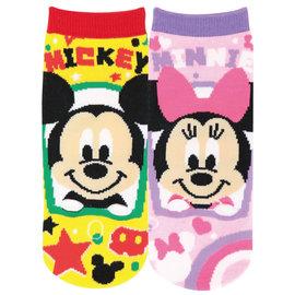 Js Planning Chaussettes - Disney Mickey Mouse - Mickey et Minnie Pattes en Relief 1 Paire Chevilles Courtes