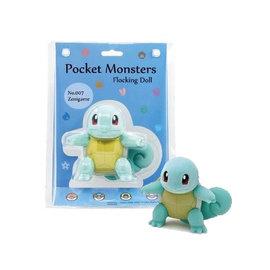 "Sekiguchi Figurine - Pokémon Pocket Monsters - Squirtle/Zenigame en Velours Floqué 5"""