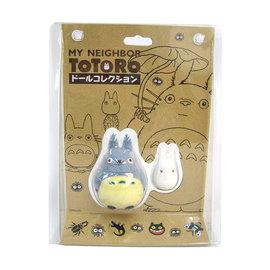 """Sekiguchi Figurine - Studio Ghibli Mon Voisin Totoro - Chuu-Totoro et Chibi-Totoro en Velours Floqué 3""""3"""