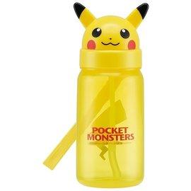 Skater Travel Bottle - Pokémon - Pikachu's Head with Straw 350ml