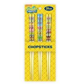 T's Factory Chopsticks - SpongeBob SquarePants - Various Characters Set of 3 Pairs 21cm