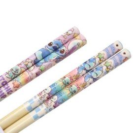 Nibariki Chopsticks - Disney Lilo & Stitch - Stitch and Scrump Set of 2 Pairs 21cm
