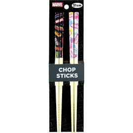 Nibariki Chopsticks - Marvel - Various Logos Set of 2 Pairs 21cm