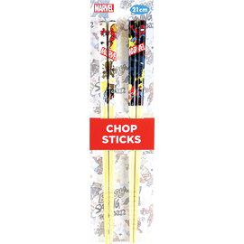 Nibariki Chopsticks - Marvel - Chibi Characters Set of 2 Pairs 21cm