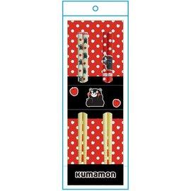 Nibariki Chopsticks - Kumamon - Set of 2 Pairs 21cm
