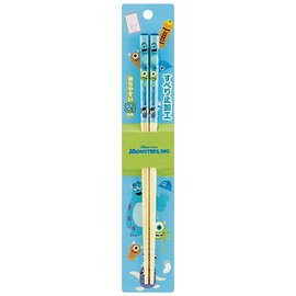 Nibariki Chopsticks - Disney Pixar Monsters Inc. - Sulley, Mike and Boo 1 Pair 21cm