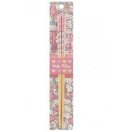 Nibariki Chopsticks - Hello Kitty - Multicolored Bows 1 Pair 21cm