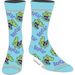 Bioworld Chaussettes - Nickelodeon Rugrats - Reptar Bleues 1 Paire Crew Tube